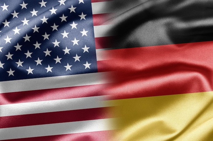 US German Flags